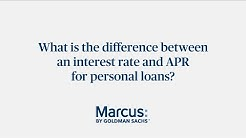 What is the difference between interest rate and APR for personal loans? | Marcus by Goldman Sachs