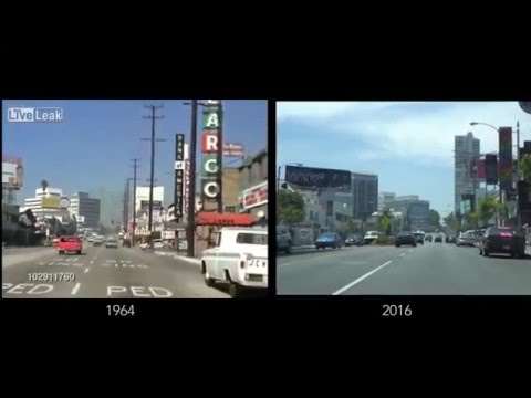 X-post from r/LosAngeles [USA] Sunset Strip 1964 vs 2016