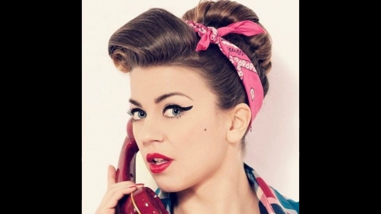 peinados pin up pelo corto para mujer youtube