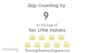 Skip counting by 9 to the tune of Ten Little Indians