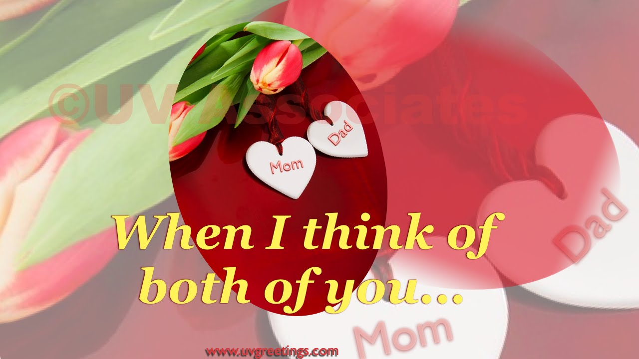 Happy anniversary ecard for mom & dad good wishes for lifetimes