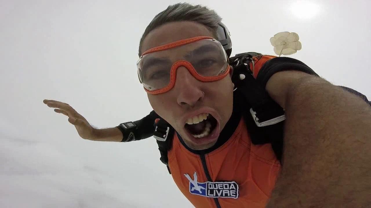 Salto de Paraquedas do Alexandro na Queda Livre Paraquedismo 21 01 2017