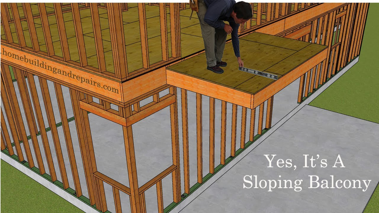 How To Install Floor Joist For Sloping Balcony Home Building And