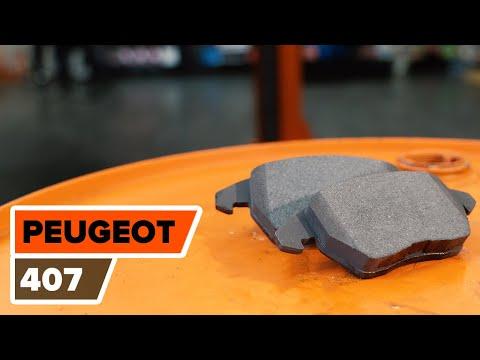 Cum se schimba placutele de frana din față pe Peugeot 407  | Tutorial HD