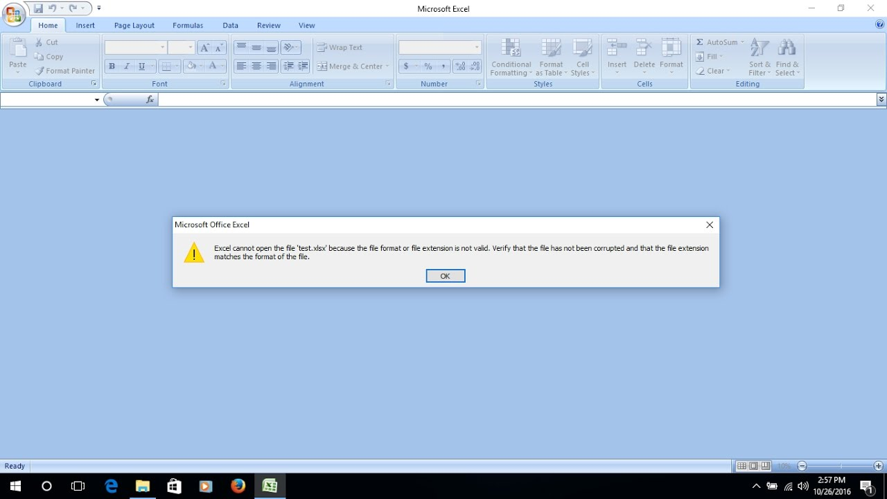 how to repair excel 2013