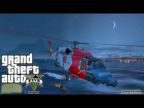 GTA 5 - Rescue Mod V - COAST GUARD| PARAMEDIC  - (GTA 5 Rescue Mod PC MODS)