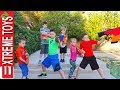 Sneak Attack Squad Tryouts with Ninja Kids TV! Nerf Blaster Training.