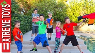 Sneak Attack Squad Tryouts with Ninja Kids TV! Nerf Blaster Training. thumbnail