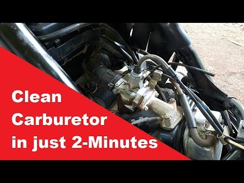 Clean Scooter carburetor In Just 2-Minutes.
