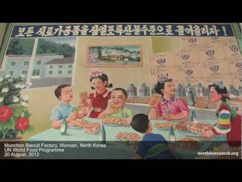 Children at school, meals, biscuits in Wonsan, North Korea