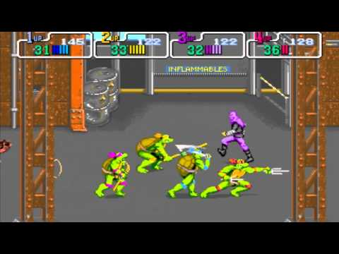 Gameflix: Teenage Mutant Ninja Turtles 89 4 Player (Arcade)