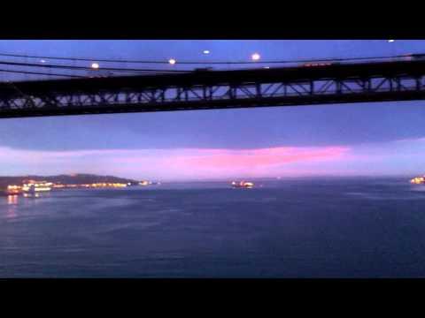Sailing Under Lisbon Bridge, Portugal on Indepenceance Of the Seas
