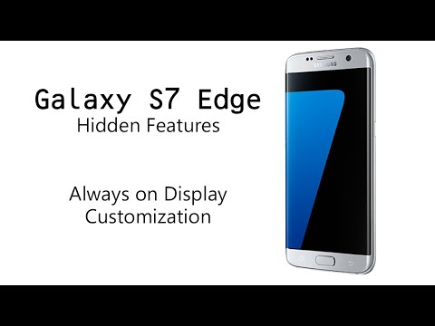 Galaxy S7 Edge Hidden Feature | Always On Display Customization