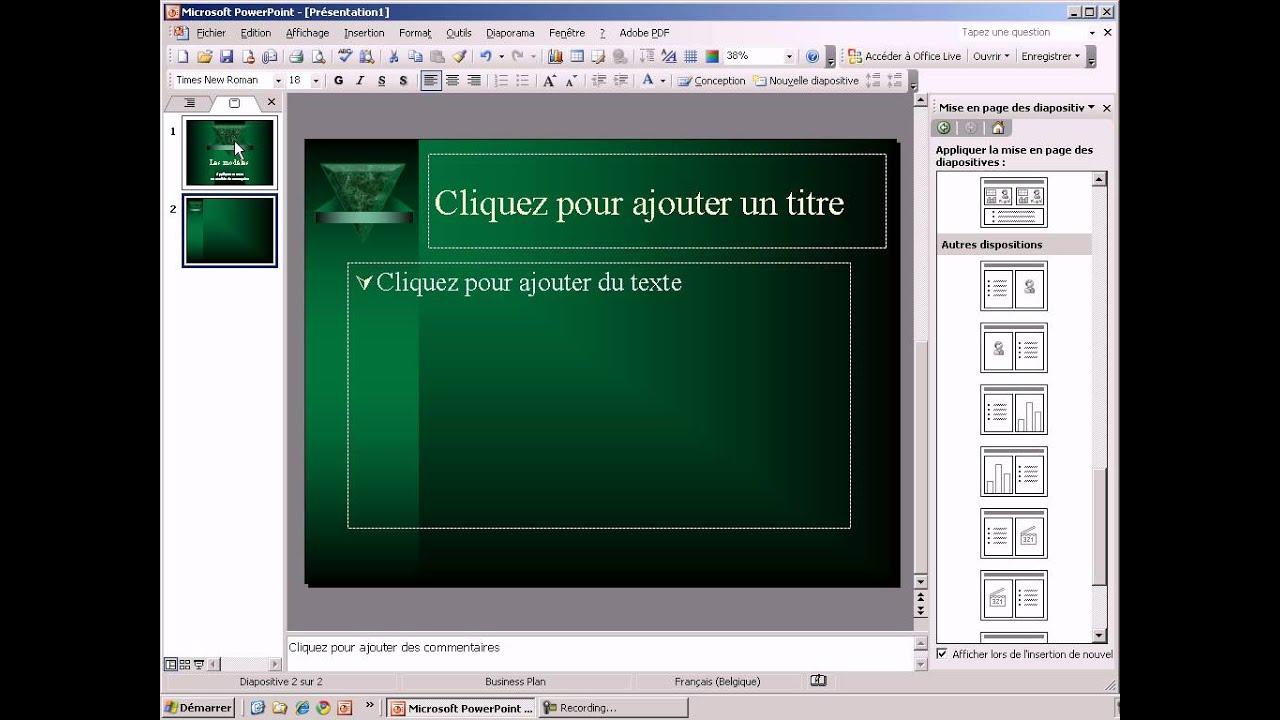 PowerPoint 2003 - 05 Les modèles de conception - YouTube