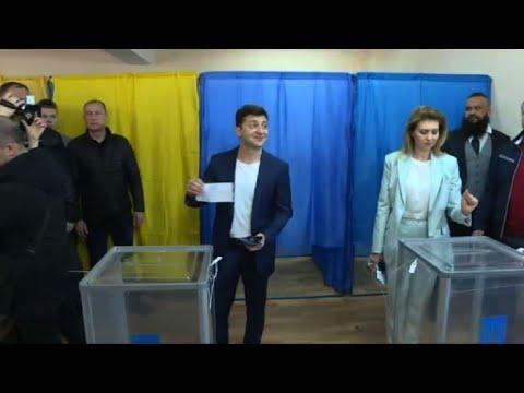 Election en Ukraine : Zelensky vote au second tour  | AFP Images