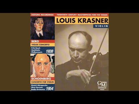 Concerto For Violin, Op. 36: I. Poco allegro (Live)