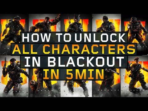 How to Unlock ALL Blackout Characters in 5 min! Full Guide (Black Ops 4)