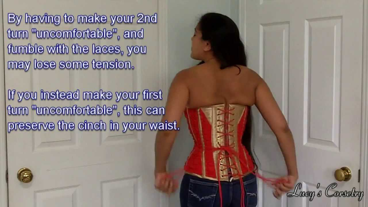 Corset basics tying correct knots and bows lucys corsetry youtube ccuart Choice Image