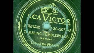 Sons Of The Pioneers - Tumbling Tumbleweeds (original 78 rpm)