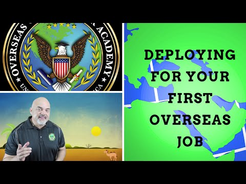 How to deploy for your first overseas job