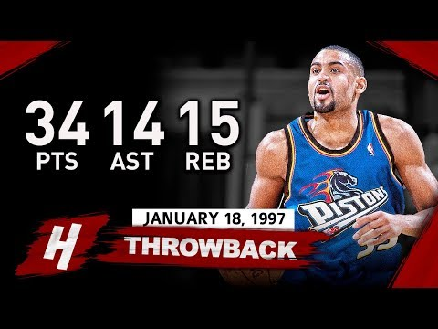 Grant Hill EPIC Triple-Double Highlights vs Lakers (1997.01.18) - 34 Pts, 14 Ast, 15 Reb, SHOWTIME!