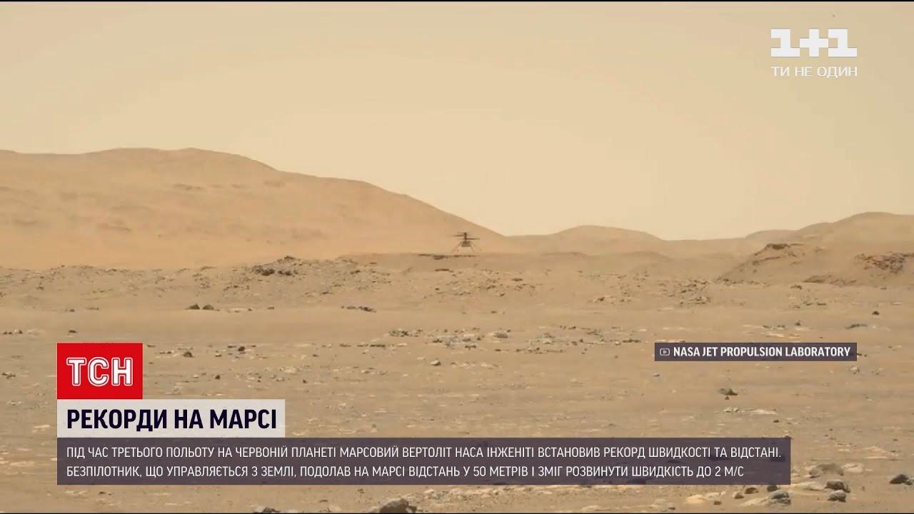 Новини світу: марсовий вертоліт НАСА встановив рекорд швидкості та відстані