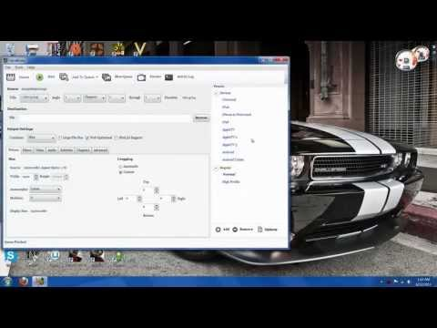 Quick Handbrake Tutorial For Uploading To Youtube (Windows 7)