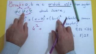 Tam Sayılar 2 (Ardışık Sayılar Ve Hızlı Toplama) Şenol Hoca Matematik