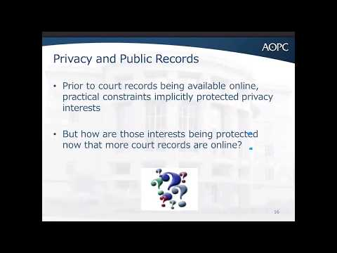 Confidentiality of Court Filings: New Public Access Policy (Webinar)
