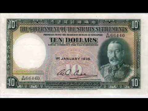 SINGAPORE CURRENCY NOTES - Colonial Era