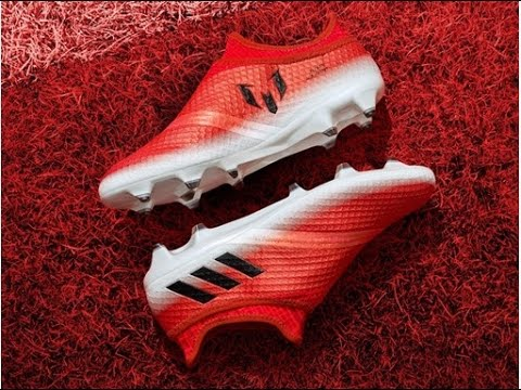 Adaptado Distribuir Mirar furtivamente  Football Boots Adidas Messi 16+ Pureagility Red Limit - YouTube
