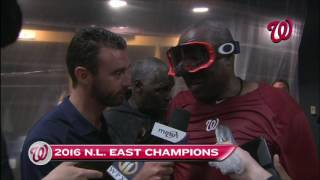 Dusty Baker after Nationals clinch NL East