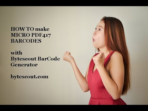 Bytescout BarCode Generator demo how to make Micro PDF417 barcodes