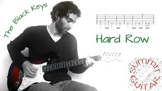 The Black Keys - Hard Row - Guitar lesson / tutorial / cover with tablature