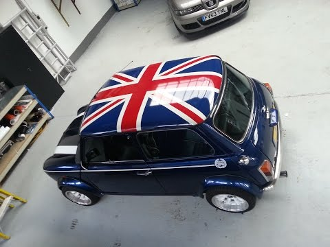 Classic Mini Union Jack Roof Graphic Install