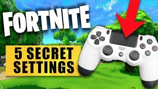 FORTNITE - 5 Secret Settings in Fortnite Battle Royale on PS4 & XBOX ONE!