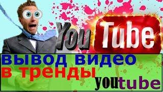 вывод видео в тренды/ вывод видео в тренды youtube/ как видео попадает в тренд/ посев вывод в тренды