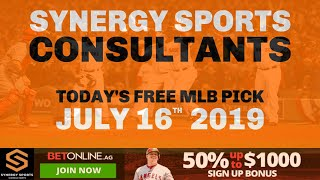 Free MLB Baseball Sportsbetting Prediction for Tuesday July 16th 2019 #mlb #freesportspicks