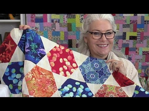 Free Unique Hexagon Star Quilt Pattern - YouTube : hexagon quilt pattern free - Adamdwight.com