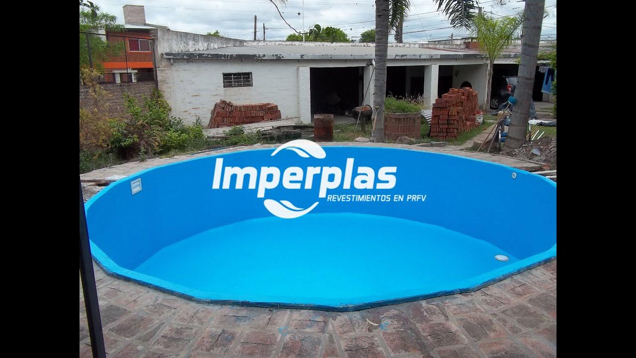 Revestimiento de piscinas con fibra de vidrio imperplas for Piscinas de fibra instaladas