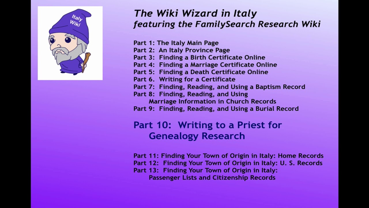Familysearch research wiki wizard in italy part 7a finding a familysearch research wiki wizard in italy part 7a finding a church baptism record online lesson aiddatafo Images