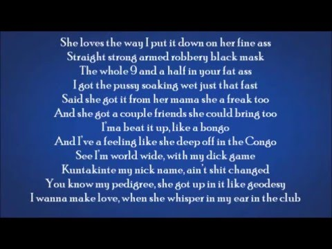 Akon - Throw Dat D  (Lyrics On Screen)
