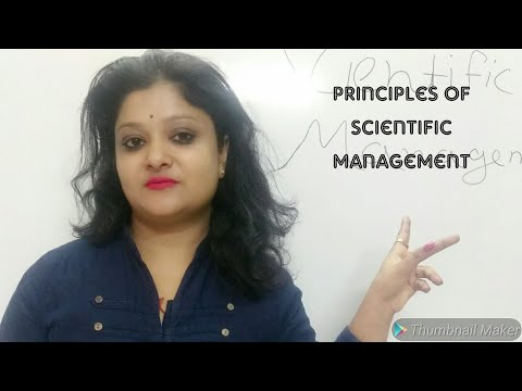 principles of Scientific Management for Commerce and Management Students