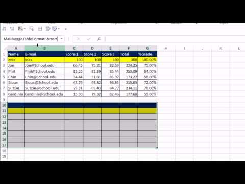 Office 2013 Class #51: Fix Word 2013 Mail Merge Number Format Problem: Excel & Access Data Source
