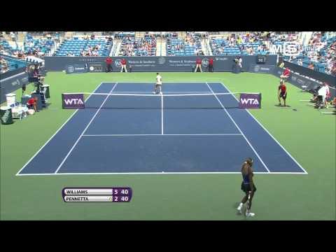 Serena Williams vs Flavia Pennetta, Cincinnati Open 2014 (1/8 Finale), highlights HD