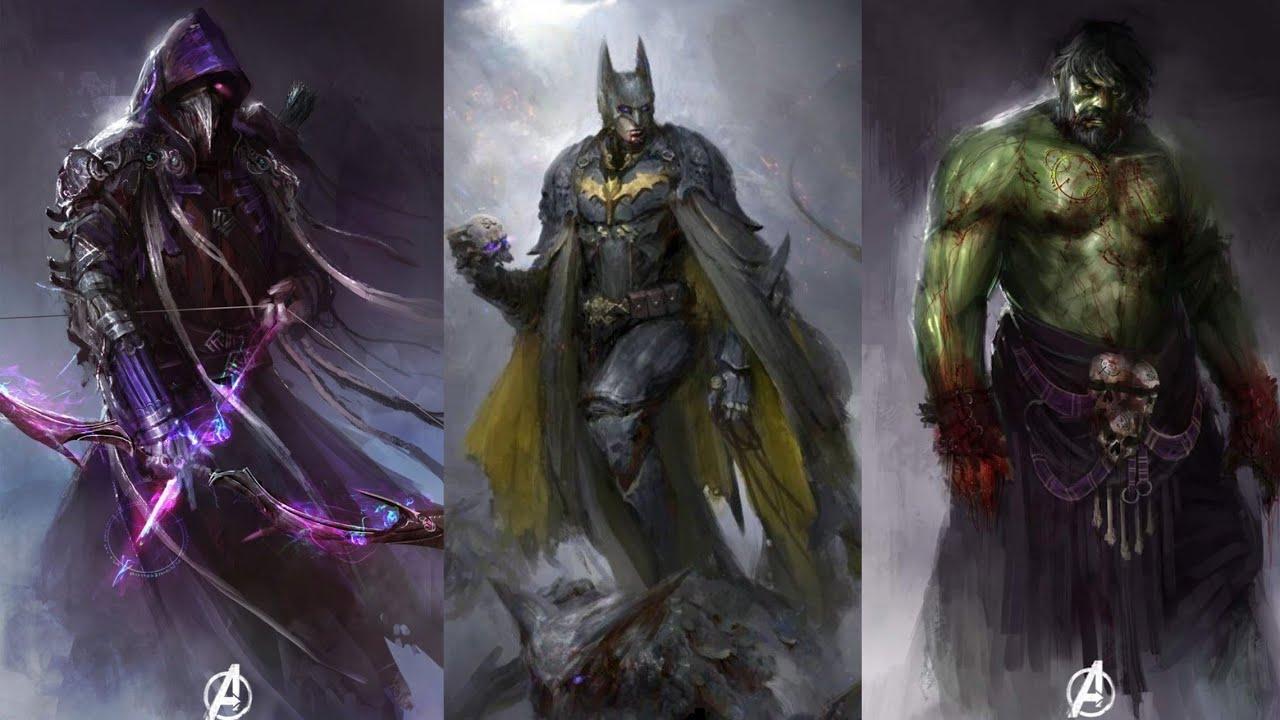Marvel/DC Characters Warrior Version || SuperMedia