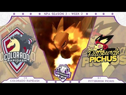 Colorado Rapidash vs Pittsburgh Pichus   NPA S3W2   Pokemon Sun and Moon Wifi Battle