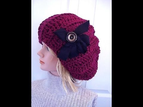 CROCHET PATTERN, SLOUCHIE HAT, ADULT SIZE. How to diy - YouTube