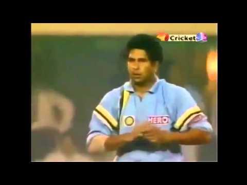 Rare last over by sachin IND vs SA Hero...