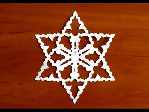 снежинки из бумаги шаблоны для вырезания пошагово